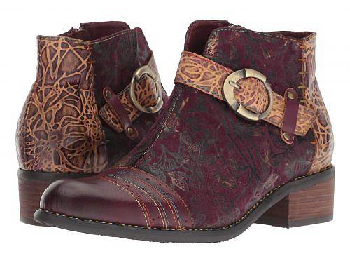 送料無料 ラーティスト L'Artiste by Spring Step レディース 女性用 シューズ 靴 ブーツ アンクルブーツ ショート Georgiana - Purple Multi
