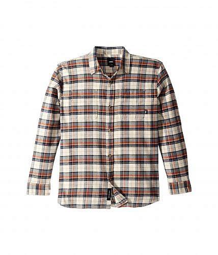 バンズ Vans Kids 男の子用 ファッション 子供服 ボタンシャツ Banfield II Woven Flannel (Big Kids) - Natural/Sequoia