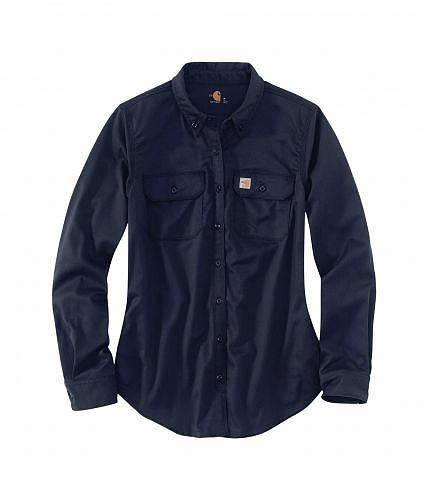 カーハート Carhartt レディース 女性用 ファッション ボタンシャツ Flame-Resistant Rugged Flex Twill Shirt - Dark Navy