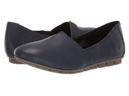 送料無料 ボーン Born レディース 女性用 シューズ 靴 ローファー ボートシューズ Sebra - Navy Full Grain Leather