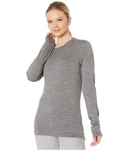 アイスブレイカー Icebreaker レディース 女性用 ファッション アクティブシャツ 200 Oasis Merino Baselayer Long Sleeve Crewe - Gritstone Heather 1