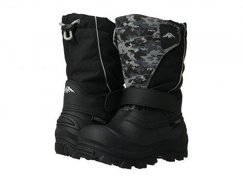 送料無料 ツンドラ Tundra Boots Kids 男の子用 キッズシューズ 子供靴 ブーツ スノーブーツ Quebec Wide (Toddler/Little Kid/Big Kid) - Black/Grey Camo