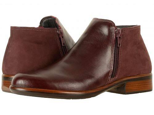 送料無料 ナオト Naot レディース 女性用 シューズ 靴 ブーツ アンクルブーツ ショート Helm - Bordeaux Leather/Violet Nubuck