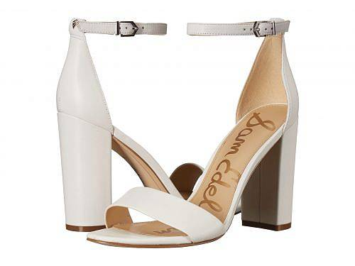 送料無料 サムエデルマン Sam Edelman レディース 女性用 シューズ 靴 ヒール Yaro Ankle Strap Sandal Heel - Bright White Dress Nappa Leather