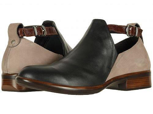 送料無料 ナオト Naot レディース 女性用 シューズ 靴 ブーツ アンクルブーツ ショート Kamsin - Jet Black Leather/Stone Nubuck/Luggage Brown Leather
