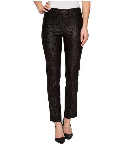 クレイジーラリー Krazy Larry レディース 女性用 ファッション パンツ ズボン Pull-On Ankle Pants - Black Python