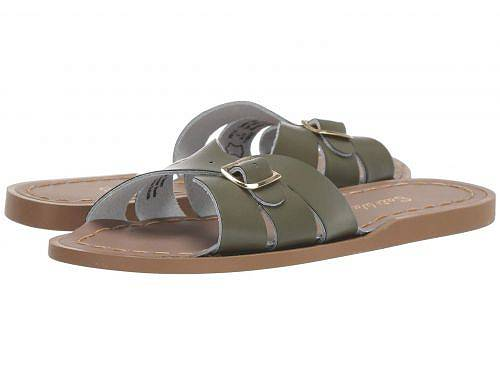 Salt Water Sandal by Hoy Shoes 女の子用 キッズシューズ 子供靴 サンダル Classic Slide (Little Kid) - Olive