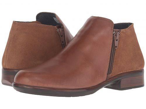 送料無料 ナオト Naot レディース 女性用 シューズ 靴 ブーツ アンクルブーツ ショート Helm - Maple Brown Leather/Desert Suede