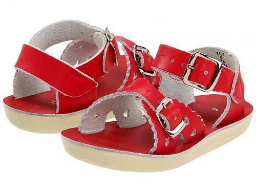 送料無料 Salt Water Sandal by Hoy Shoes 女の子用 キッズシューズ 子供靴 サンダル Sun-San - Sweetheart (Toddler/Little Kid) - Red
