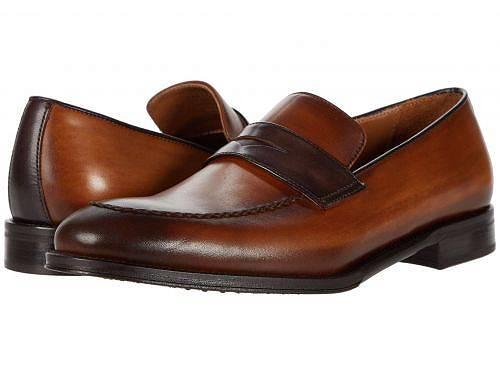 日本未発売 セール品 海外ブランドの靴 スニーカー バッグ 子供服 鞄 水着など取り扱い多数 使い勝手の良い プレゼントやお祝いにも ブルーノマリ 新品 送料無料 Bruno Magli Arezzo 男性用 シューズ - Brown Cognac 靴 ローファー Dark メンズ