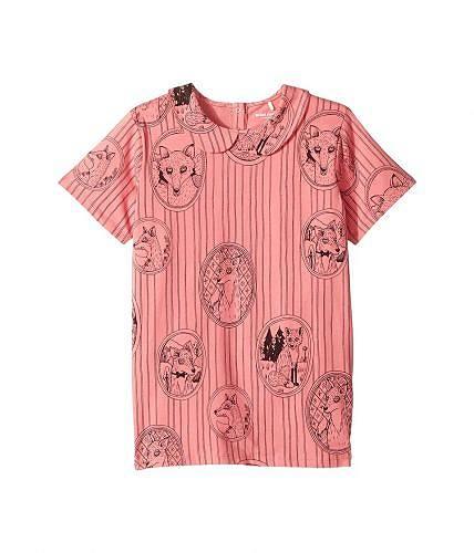 送料無料 mini rodini ミニロディニ 子供服 Tシャツ 女の子用 長袖 ファッション mini rodini ミニロディニ Fox Family Collar Tee (Infant/Toddler/Little Kids/Big Kids) - Pink