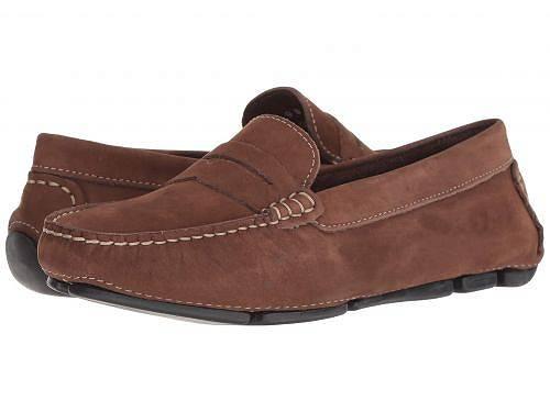 送料無料 マッシオマッテオ Massimo Matteo レディース 女性用 シューズ 靴 ローファー ボートシューズ Penny Keeper - Chocolate Brown Nubuck