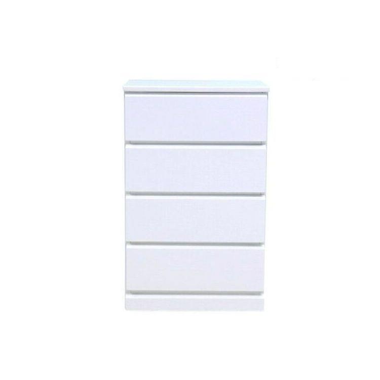 チェスト たんす 舗 リビング収納 サニタリー 収納 現金特価 4段 シンプル おしゃれ 木製 完成品 SOFEE-2 送料無料 50cm 白 101-01598 2年保証 ソフィー ホワイト