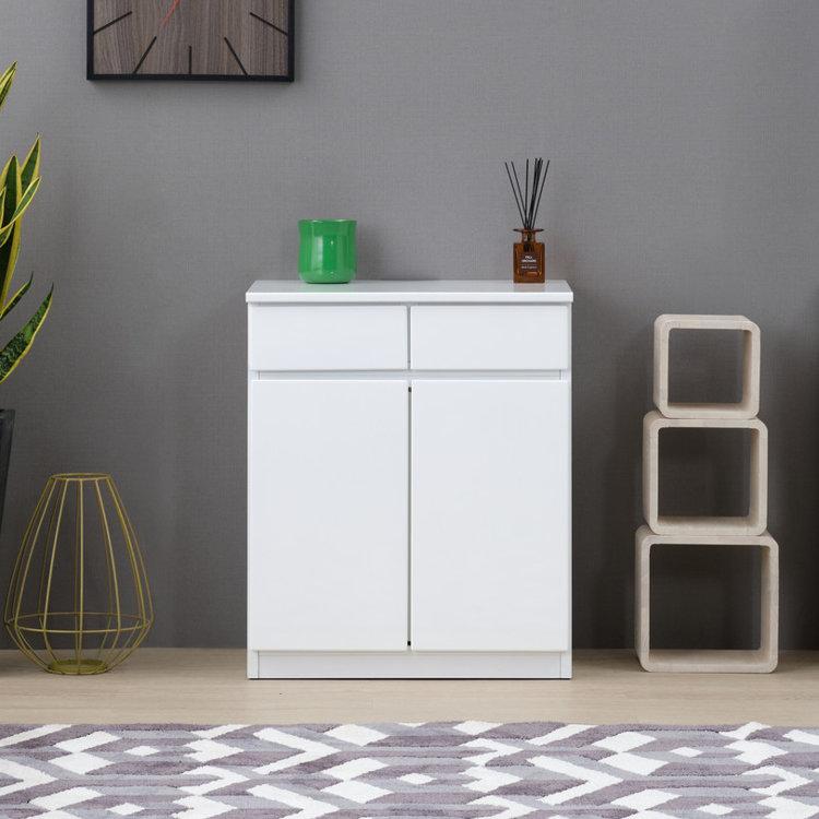 キャビネット 美品 サイドボード リビングボード チェスト ロータイプ 収納 シンプル おしゃれ 木製 ABELIA 白 ホワイト アベリア 60cm 完成品 送料無料 101-02083 2年保証 トラスト