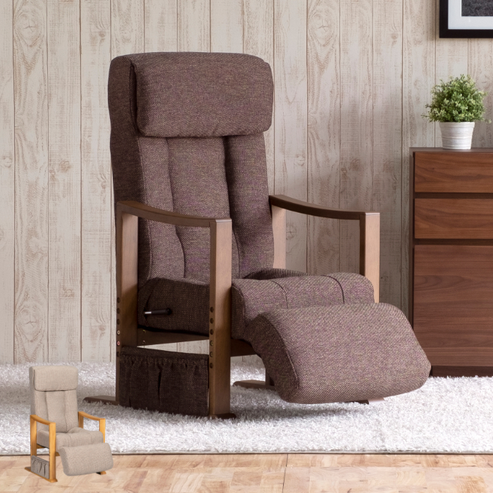 高座椅子 座椅子 チェア リクライニング機能付き フットレスト 快適 ヘッドレスト BAIKAL TAKAZAISU-FOOT【2年保証】【送料無料】