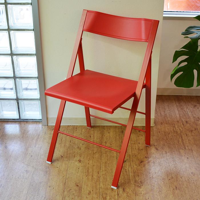 チェア 椅子 デザイナーズチェア イタリア 折りたたみ 軽量 ポケットチェア【4脚セット】