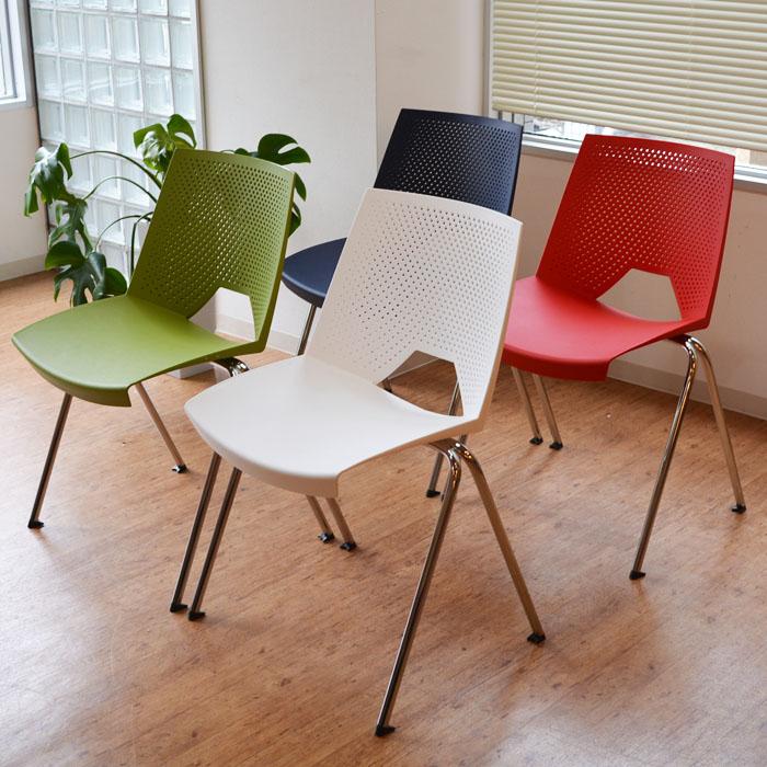 チェア 椅子 デザイナーズチェア イタリア スタッキング 重ね置き 軽量 ポケットチェア STRIKE(ストライク) 【4脚セット】