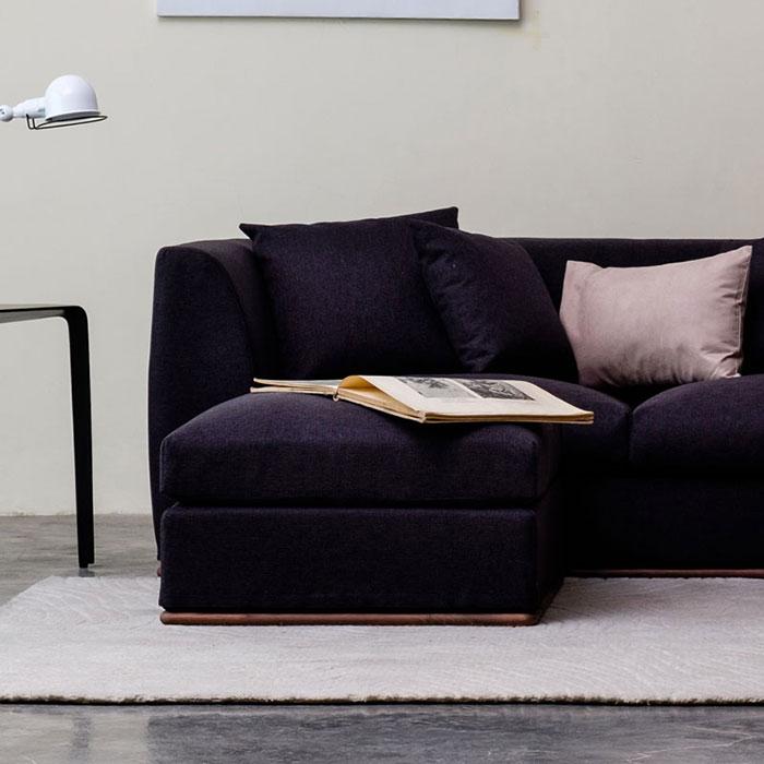 オットマン スツール フットレスト 木製 チェア カバー コンパクト ソファー用 北欧 -MONOVA Basic-05 OTTOMAN 送料無料 5年保証