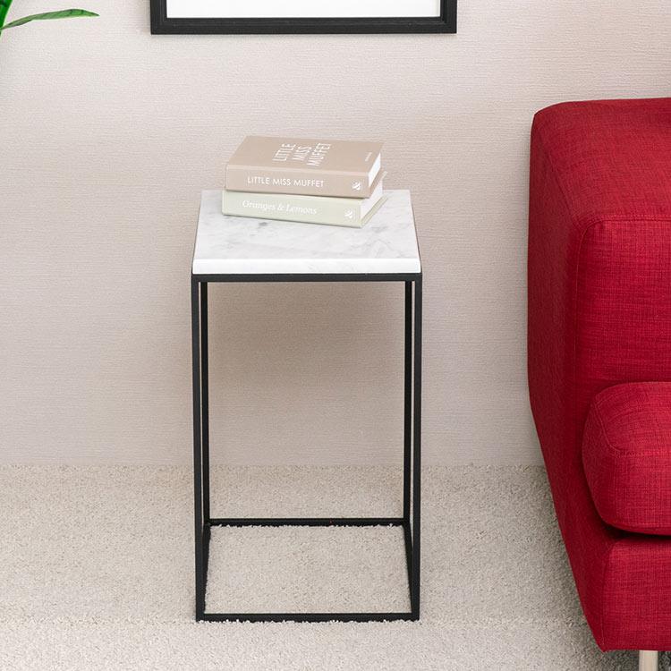 サイドテーブル テーブル 大理石 シンプル おしゃれ デザイン家具 ACRO STONE SQ-30 【2年保証】【送料無料】