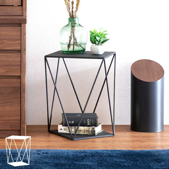 AYA SIDE TABLE (BK)(WH) アヤ サイドテーブル(ブラック ホワイト)スチール デザイナーズ家具【送料無料】【2年保証】