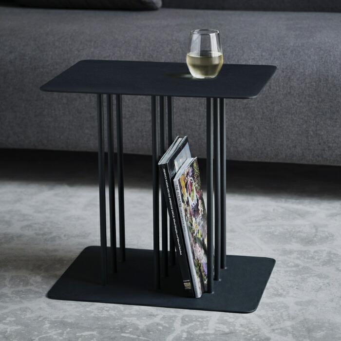 サイドテーブル テーブル モダン シンプル 幅40 おしゃれ デザイナーズ家具 STRIPE SIDE TABLE (STEEL-BK) 【送料無料】【2年保証】