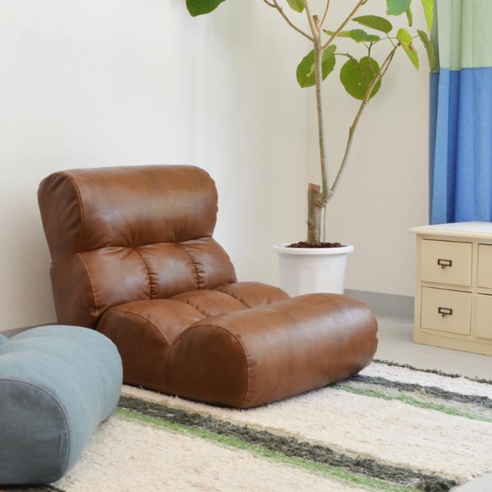 ピグレット クラシック 座椅子 リクライニング ポケットコイル フロアソファ チェア リラックスチェア ソファ PVCレザー Piglet classic 【送料無料】