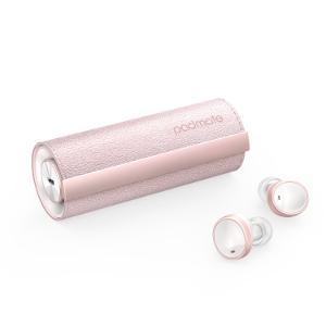 完全ワイヤレスイヤホン PaMuScroll Plus Sakura+ワイヤレス充電レシーバー