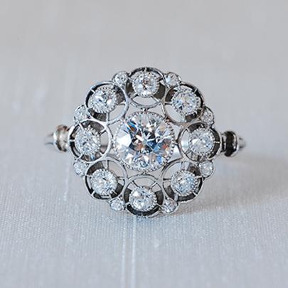 激安正規品 プラチナ 18ctゴールド ダイヤモンドリング Rings レディース ジュエリー 指輪, アンサーフィールド 1e2b7992