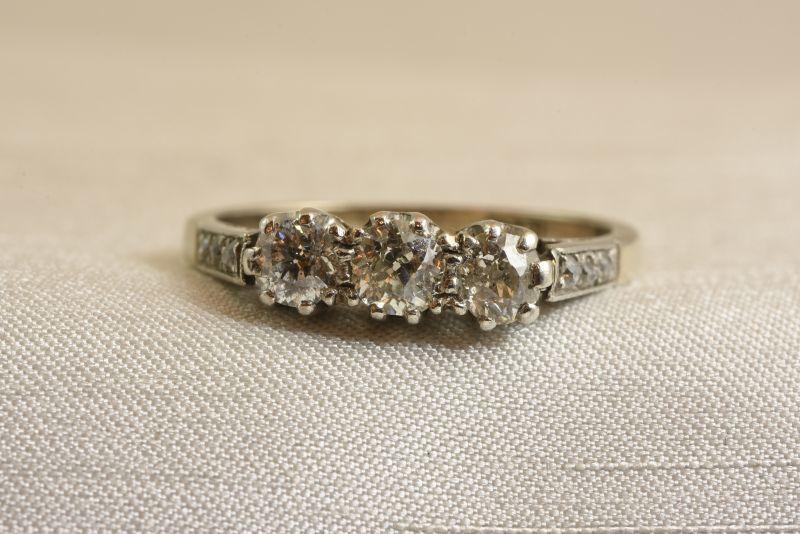 注目 グッドウィル アンティーク ジュエリー 18ct ダイヤモンド リング 金 指輪 レディース, 新宿 銀の蔵 2b536522
