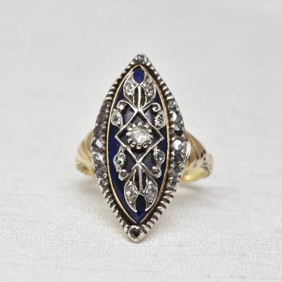 グッドウィル アンティーク ジュエリー 14ct sv ダイヤモンド リング 金 指輪 メンズ レディース