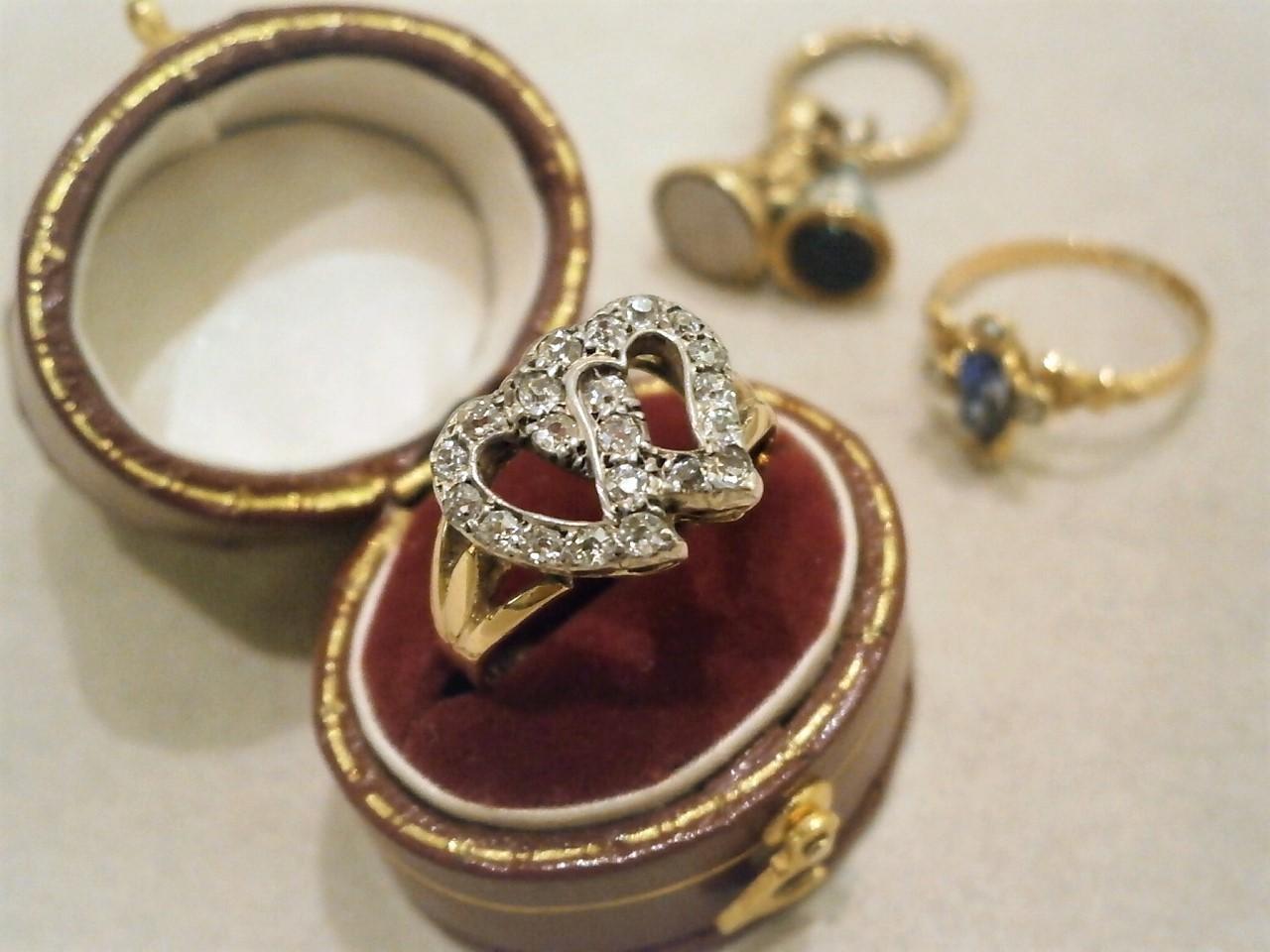 グッドウィル アンティーク ジュエリー ゴールド Sv ダイヤモンドリング 指輪 装飾品