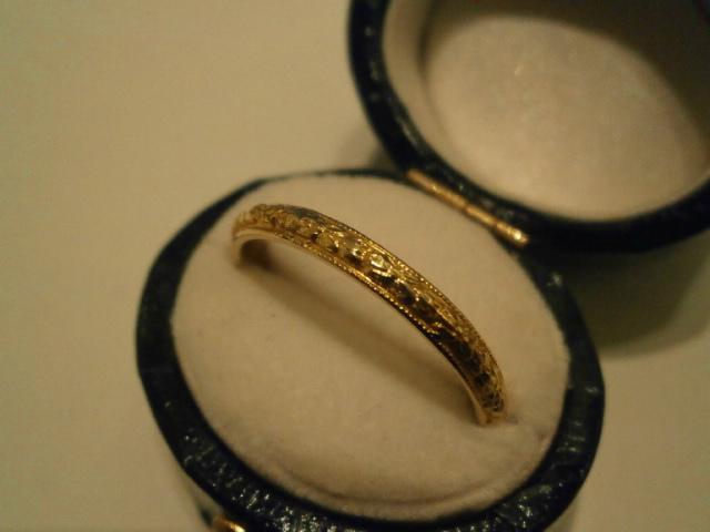 アンティークジュエリー 9ct エタニティー リング 指輪 レディース