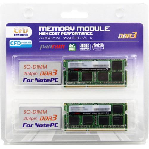CFD W3N1600PS-8G Panram DDR3-1600 ノート用メモリ 8GBx2 SO-DIMM 2枚組