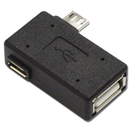 アイネックス ADV-120 販売 USBホストアダプタ モデル着用&注目アイテム 補助電源コネクタでバスパワー機器の電力不足を補います 補助電源付