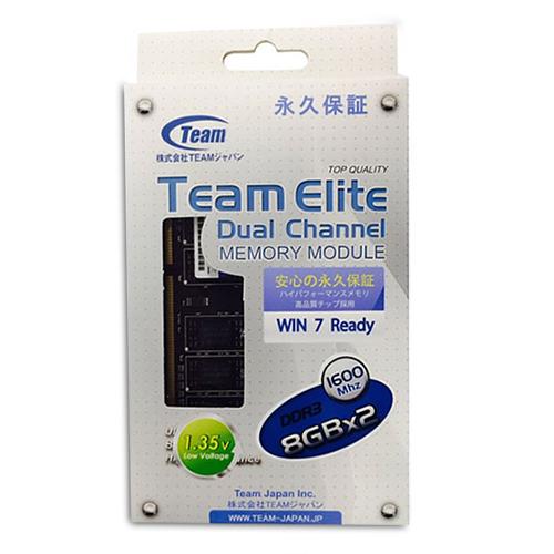 Team TED3L16G1600C11DC PC3-1600 8GBx2 デスクトップ用メモリ DDR3L 1.35V LO-DIMM