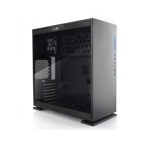 IN WIN IW-CF06B 303-Black ブラック ミドルタワーPCケース セパレート構造により熱源を分離。サイドパネルに強化ガラス採用