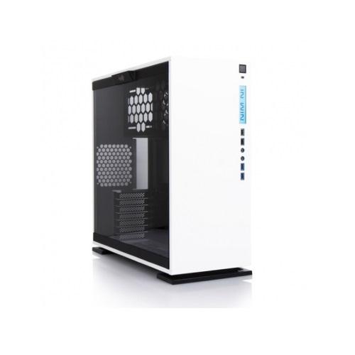 IN WIN IW-CF06W 303-WHITE ホワイト ミドルタワーPCケース セパレート構造により熱源を分離。サイドパネルに強化ガラス採用