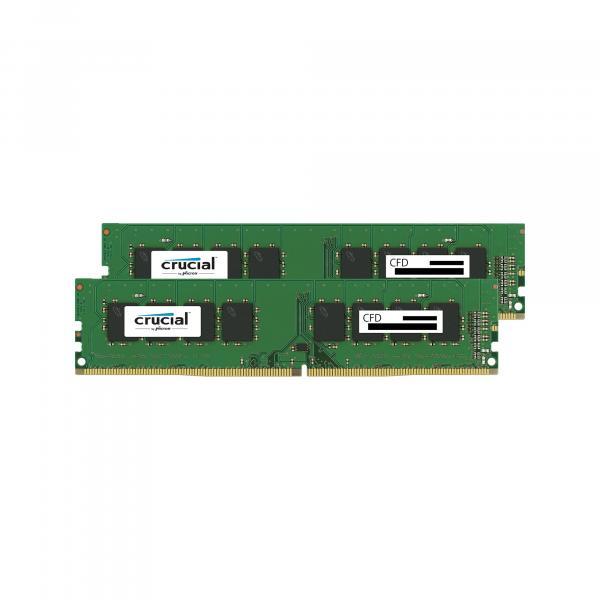 CFD W4U2666CM-16G 16GBx2 DDR4-2666 (PC4-21300) デスクトップ用メモリ DIMM Crucial スタンダードモデル