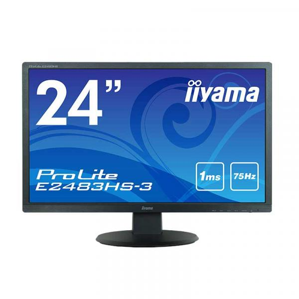 iiyama ProLite E2483HS-B3 / E2483HS-3 24型液晶ディスプレイ ホワイトLEDバックライト搭載 [24W/TN]