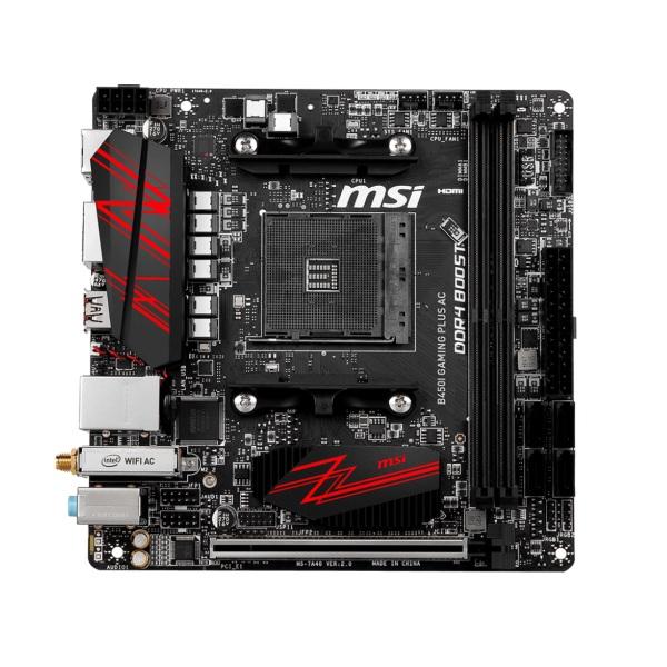 MSI B450I GAMING PLUS AC [mini-ITX/AM4/B450] AMD B450チップセット搭載 Mini-ITXマザーボード ゲーミング