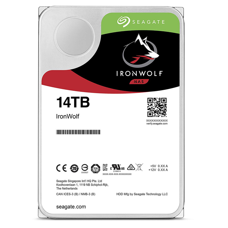 Seagate ST14000VN0008 [14TB/3.5インチ/7200rpm/SATA ] IronWolf/NAS向け 内蔵用HDD IronWolf シリーズ バルク品