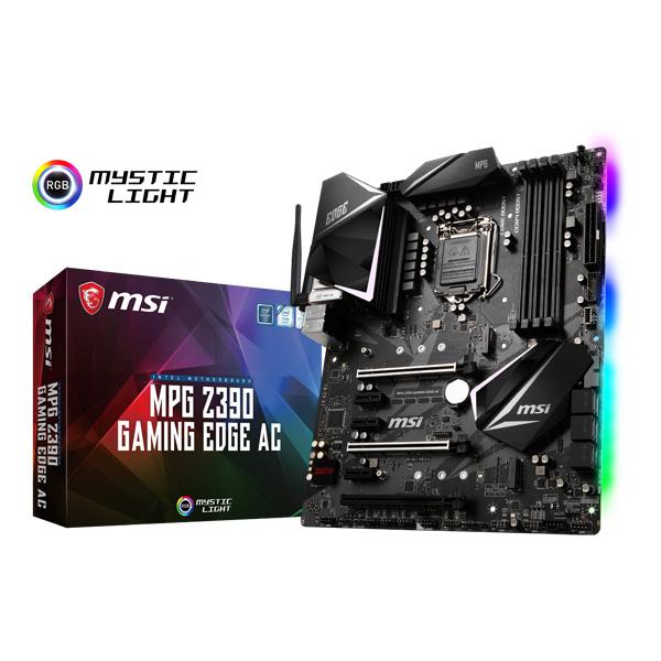 MSI MPG Z390 GAMING EDGE AC [ATX/LGA1151/Z390] Intel 第9世代Coreプロセッサー対応 Z390チップセット搭載マザーボード
