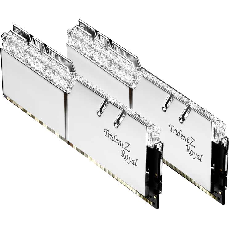 G.SKILL F4-3200C16D-16GTRS [DDR4-3200/8GB x2枚] デスクトップ用メモリ Trident Z Royalシリーズ シルバー