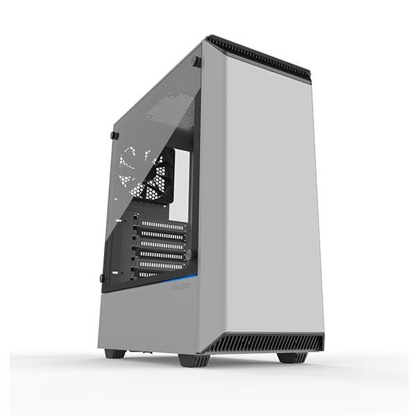 Phanteks PH-EC300PTG_WT ホワイト ミドルタワー PCケース 強化ガラスのサイドパネル採用