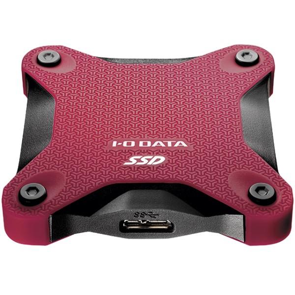 アイオーデータ SSPH-UT480R ワインレッド 480GB ポータブルSSD USB 3.1 Gen 1(USB 3.0)対応 ハードディスクより小さく、速い