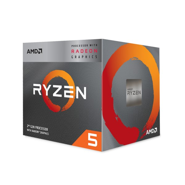 AMD Ryzen 5 3400G YD3400C5FHBOX [3.7-4.2GHz/4C/8T/AM4] 第3世代Ryzenプロセッサ Ryzen 5 3400G w/Wraith Spireクーラー