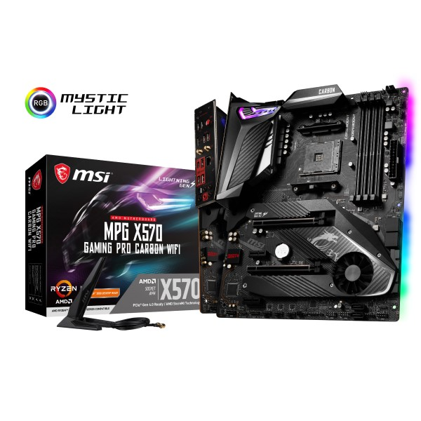 MSI MPG X570 GAMING PRO CARBON WIFI [ATX/AM4/X570] AMD X570チップセット搭載マザーボード