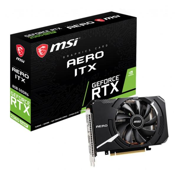 MSI GeForce RTX 2060 SUPER AERO ITX [RTX2060 SUPER/GDDR6 8GB] カード長約175mm RTX 2060 SUPER 搭載グラフィックカード