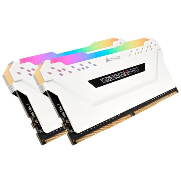 Corsair CMW16GX4M2C3200C16W 8GB×2枚 DDR4-3200 デスクトップ用メモリ ホワイト VENGEANCE RGB PRO