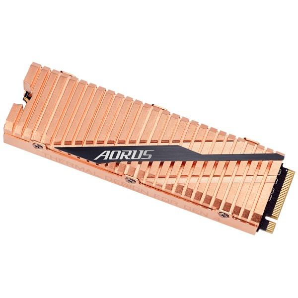 GIGABYTE GP-ASM2NE6500GTTD [500GB/SSD] PCIe Gen4 x4/M.2/GIGABYTE AORUS NVMe Gen4 SSD/11.4mm/全銅製ヒートシンク